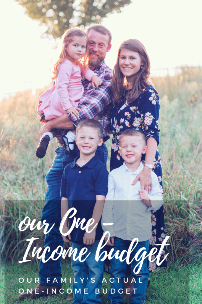 Our Actual One-Income Budget for our Family of Five
