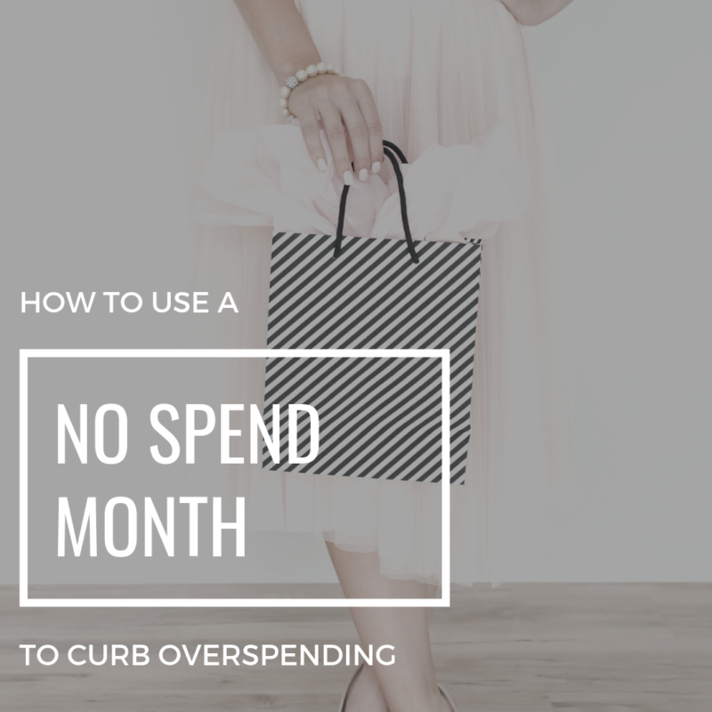Is overspending a problem? If so, try the No Spend Month! Seriously, it works wonders in getting your spending habits back under control!