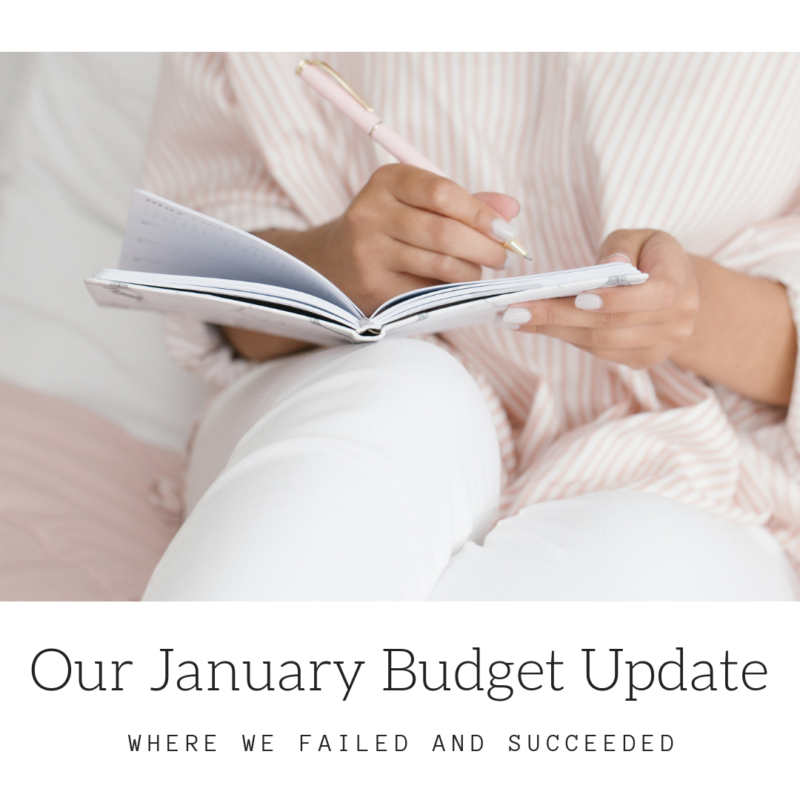 Sometimes setting up a household budget can be challenging and sometimes it's the sticking to it that's hard. I'm sharing our family's budget from January and how and where we failed and succeeded.