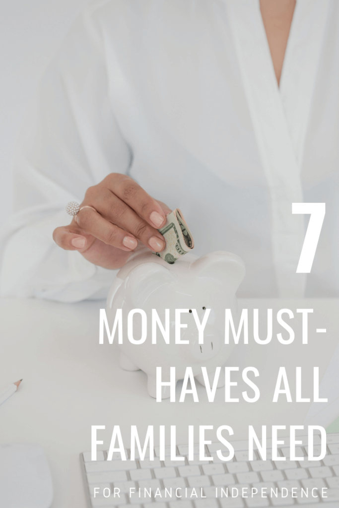 Here are 7 things that are personal finance must haves for every family - everything from getting out of debt, to setting up a Will, and more!