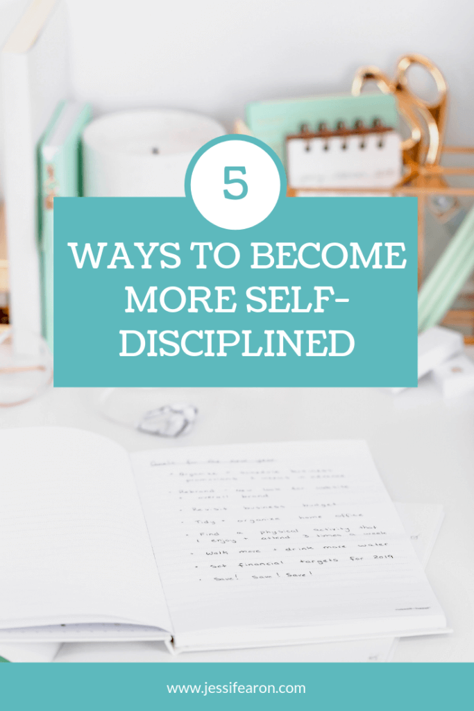 Wondering how to become self-disciplined so you can achieve your big goals? Here are 5 ways that you make mastering discipline easier.