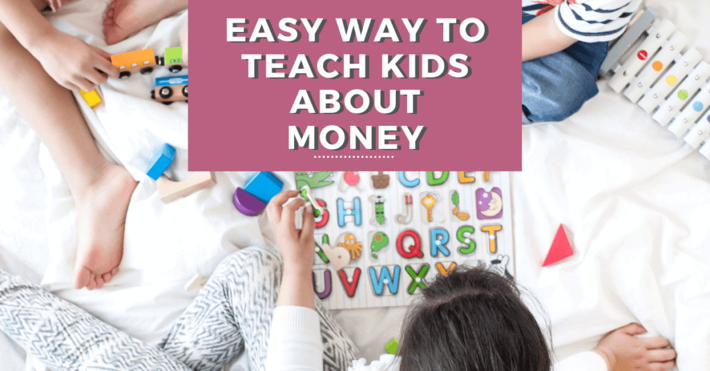 Teaching kids about money doesn't have to be hard. This method is how to teach kids about money the easy way!