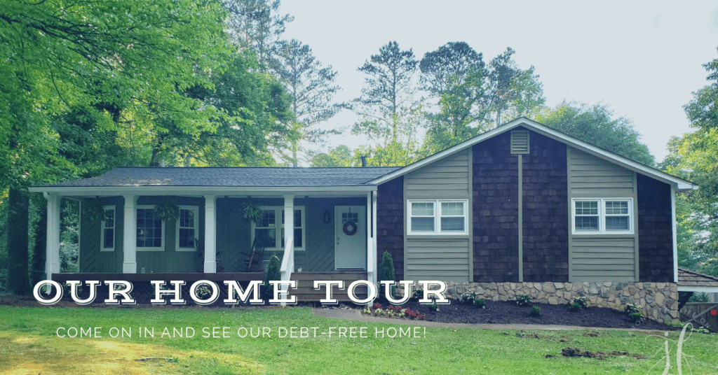 In January we paid off our house and since so many folks wanted to get a look inside our home, I put together a home tour of our debt-free home!
