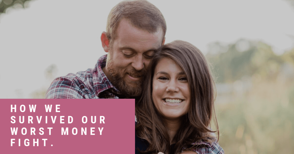 Ever have a really bad money fight with your spouse? We had our worst one ever at ten years of marriage. This is how we overcame it and kept it from destroying our marriage.