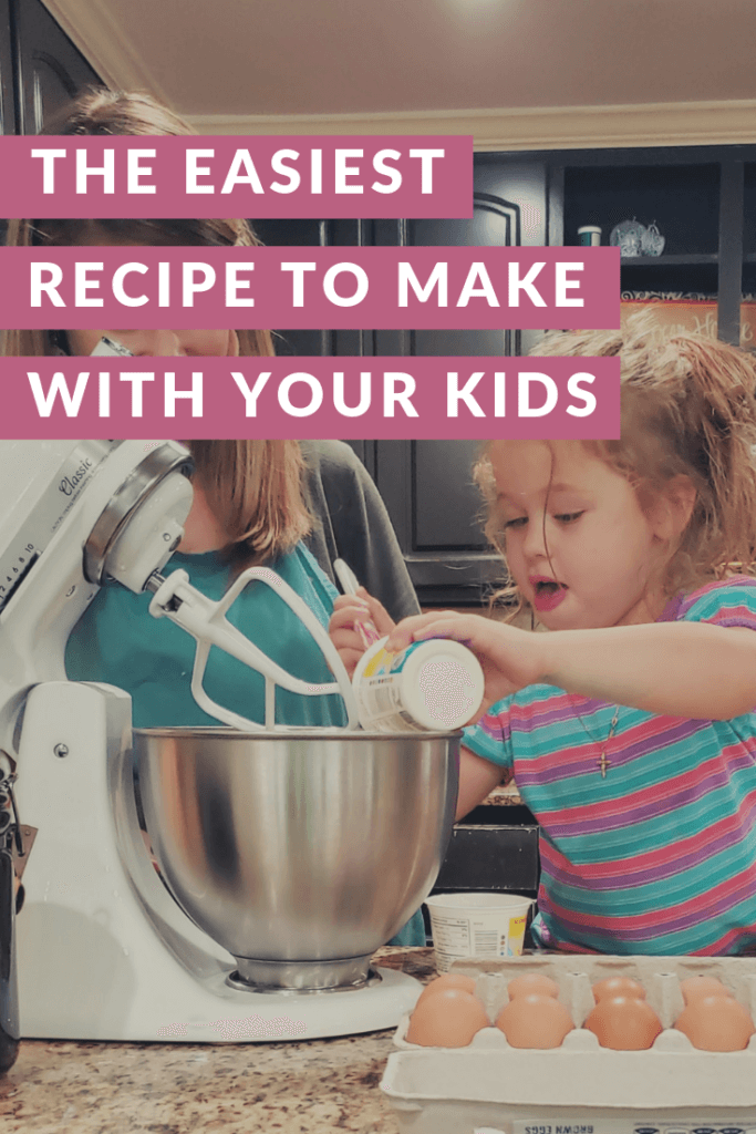 If you're looking for an easy recipe to make with your kids, this is the one! Seriously, this is what French kids first learn how to bake. Your kids will love spending time with you in the kitchen making this French Yogurt Cake. And you'll love how easy it is!