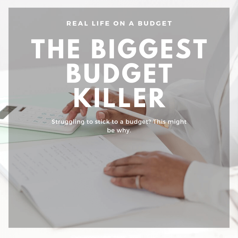 If you struggle with sticking to a budget, this might be why. This budget killer is usually what causes most folks to struggle with managing money.