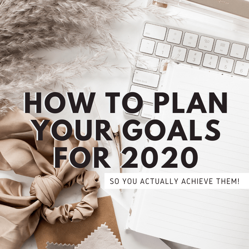 Wondering how to plan goals so you actually achieve them this year? This process is incredible for planning out and setting goals!