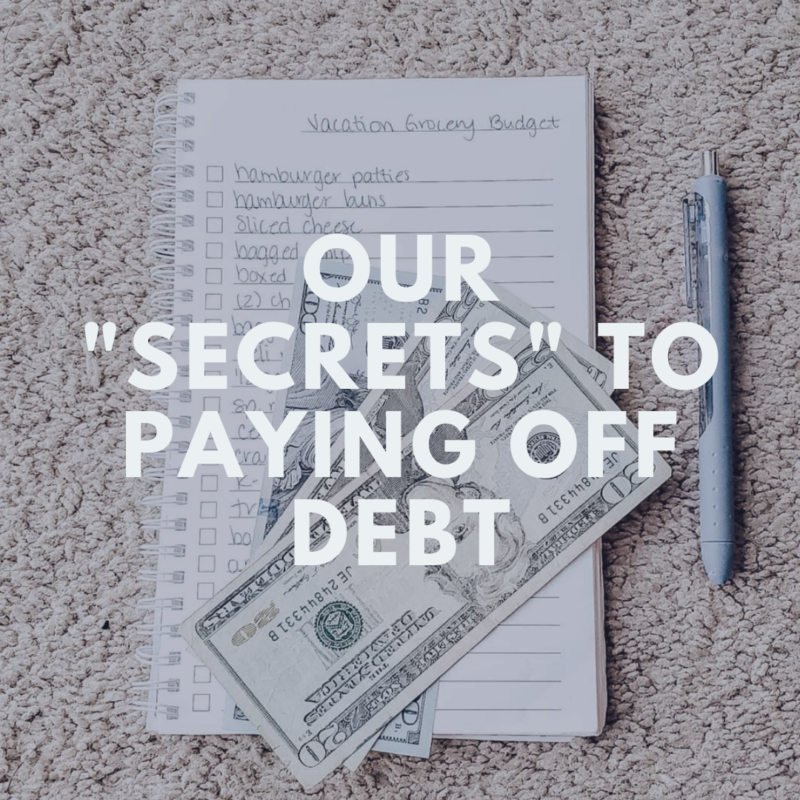 "Our family became debt-free and these are our ""secrets"". Okay, they're not really secrets because anyone can do them but here's how we became debt-free!"