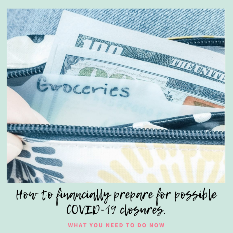 How do you prepare financially for COVID-19 and what do you do if you're already being affected by closures? Here's is what my family is experiencing and how you can prepare.
