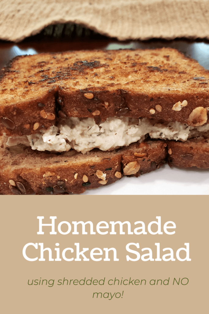 This easy to make homemade chicken salad recipe is sure to please your family this summer! This recipe uses no mayo so it's super healthy and versatile!