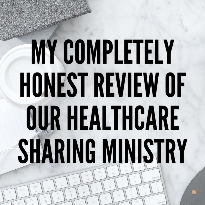 My completely honest review of our healthcare sharing ministry - everything I love and don't love including what the claims process is like!