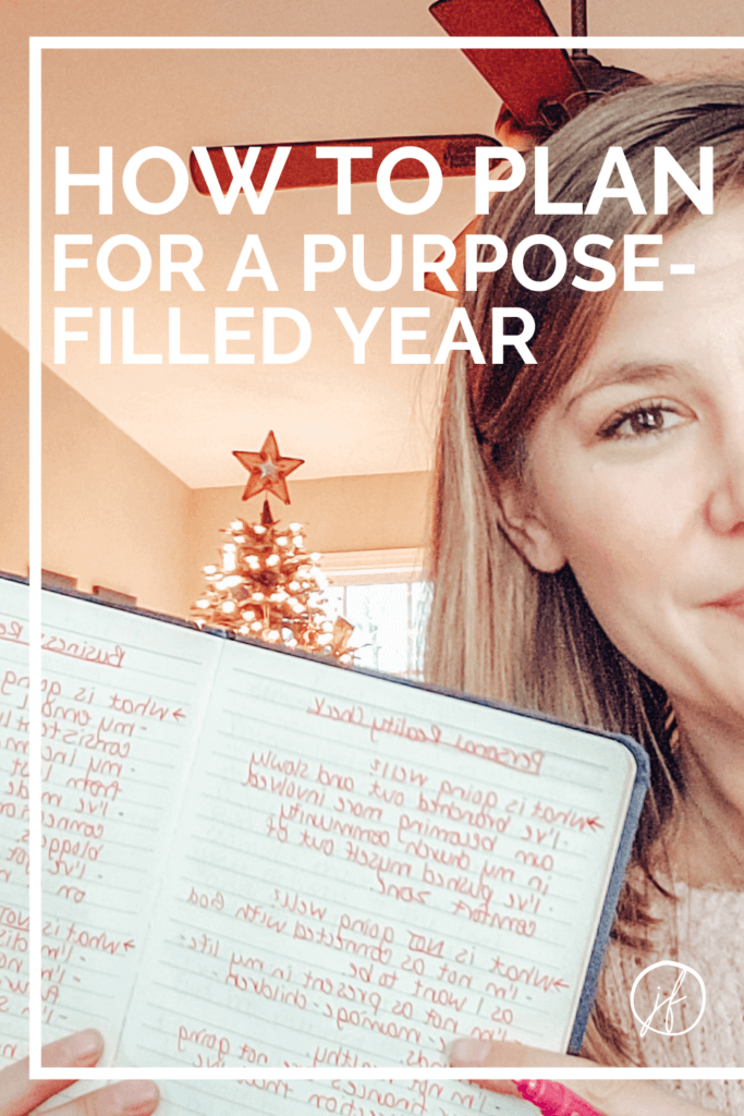 Wondering how to plan for a New Year that is intentional and purposeful? This process of goal setting will help you get clear on what you want to achieve!