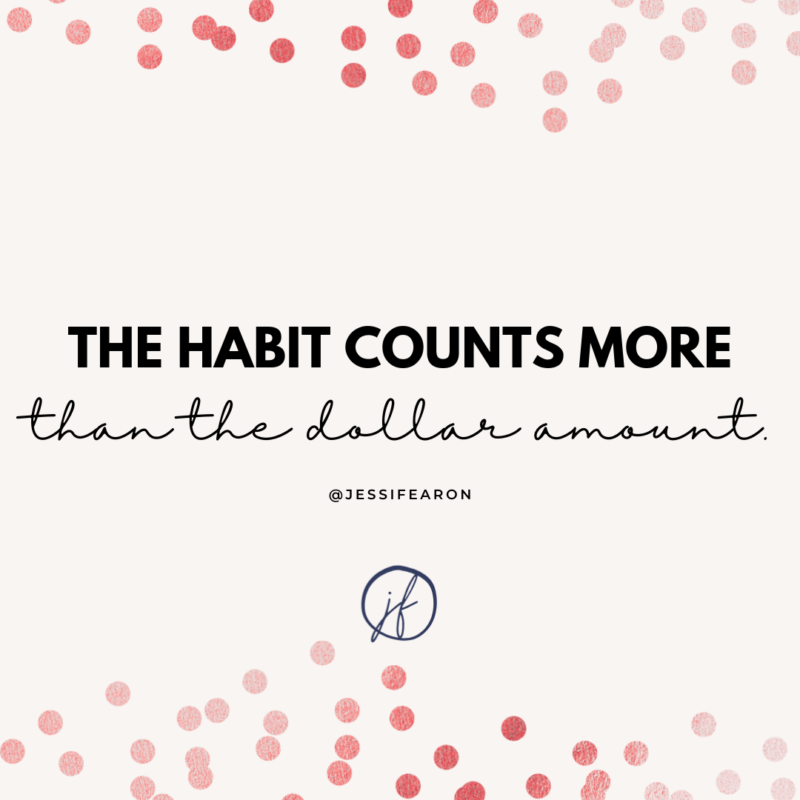 The habit counts more